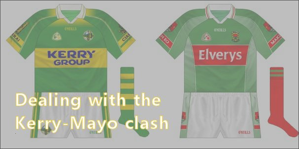 Kerry and Mayo both have predominantly green shirts, but that hasn't always resulted in change kits being worn whey they have met.
