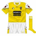 1999-2000: New design with county crest on sleeves, while the Bushmills logo was also tidied.