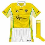 2007: With Bushmills having opted not to renew their deal, for a few games in early 2007 Antrim wore shirts with the logo of the county's supporters' club on the front.