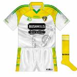 2006: Interestingly, the county's hurlers and footballer both wore this design on the same day - the hurlers beat Antrim and the footballers lost to Clare in a Casement Park double-header. Not a bad design, one that was not seen on too many other shirts.