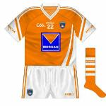2011: The 2011 Ulster SFC game against Down saw Armagh begin to use jerseys with the Morgan Fuels logo, which had previously been seen on training wear but never on jerseys. Other than that, the jersey remained the same.
