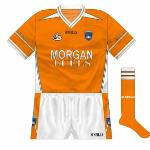 2004-07: With a tighter fit than the one it replaced, Armagh's new jersey looked dynamic, the flashes from the neck similar to those seen on adidas and Nike soccer shirts of that period.