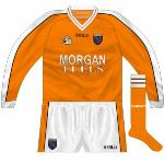 2003-04: For the first time, Armagh's long-sleeved jerseys were the same design as those used in summer, whereas previously the winter jerseys would have just been a stock O'Neills design.