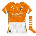 2013-: With Morgan Fuels ending its long assocation with the county, a new jersey was required. Now carrying the logo of Rainbow Communications, it featured a new collar design, unlike anything O'Neills had previously done on a GAA shirt.