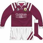 Athenry won a first county title in 1987, and while they reached the All-Ireland final they lost to Midleton. Another county  came in 1994 , but they had to wait until 96/97 win for another tilt at the All-Ireland, won against Clare's Wolfe Tones. The strip was a stock Connolly design.