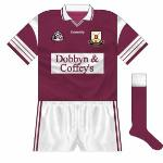 Though they could not make it back-to-back titles in 1997, in '98 they won the first of a three-in-a-row. While Connolly remained the kit suppliers, the design was updated to coincide with restaurant Dobbyn & Coffey's taking over as sponsors.