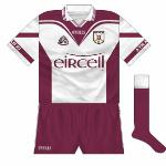 In the 2001 county final, Athenry again met Clarinbridge. This time, a reversal of the 'Eircell' kit, again with maroon shorts, was utilised. As they had in 2000, Clarinbridge again wore red.