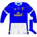 2001-07: Long-sleeved version of new jersey, this continued to be used in colder weather after the 2004 change.