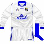 1999: Worn against Longford in the league in 1999, basically a white version of the long-sleeved blue jersey.