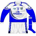 2009: While the long-sleeve home shirt did not have the GAA's 125th-anniversary logo, the white one did. Worn against Longford and Tipperary in the first two league games of the year.