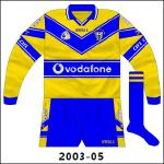 Short sleeves were worn during the 2002 league campaign, with this long-sleeved edition following in '03.