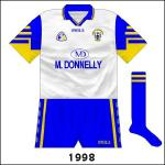 From 1993 onwards, Clare-Tipp hurling meetings weren't treated as colour-clashes anymore. Oddly, in '98 the counties drew in the Munster football championship - wearing normal shirts - but Clare wore white for the replay.