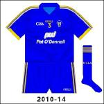 Further meetings with Wexford saw Clare play in blue more often, with the 2010-11 GK shirt used. While Wexford had worn white in '09, they switched to purple change jerseys, meaning almost as bad a clash as the normal shirts.
