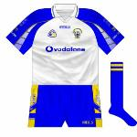 2005:   White version of new shirt used in clash against Tipperary in June 2005.