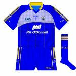 2009:  Blue numbers and GAA 125 logo.