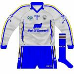 2009-11:  Worn with 2009 blue change kit against Wexford, also called into action for Tipperary match in 2011.