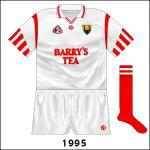 New GAA logo added and Guaranteed Irish logo now in the middle. Worn against Louth and Armagh in league games.