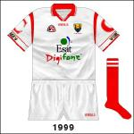 The only sighting of a white version of the 'C'-sleeved jersey was a league game against Armagh.