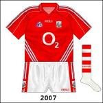 Three stripes appeared on the Cork jersey for the first time since 1976, but this time they were allowed by the county board.