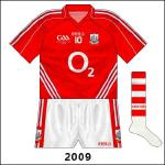 New GAA anniversary logo - from June onwards the football team began to use the hooped socks too.