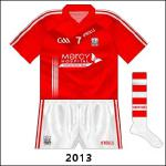 O2 departed as Cork sponsors when its contract ended on December 31, 2012. The previous shirts were worn for the McGrath and Waterford Crystal Cups in early 2013, but for the first few league games Cork carried the logo of the Mercy Hospital Foundation, promoting testicular cancer awareness.