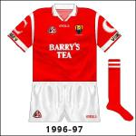 After the jersey's first outing in the awful loss to Limerick in the Munster championship, the ends of the sleeves were altered slightly, with a red line added.