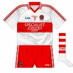 2012-13: Another change of sponsor and another new jersey, though again the design was strange as it was effectively the Tyrone shirt of 2010 but with a hoop.