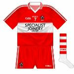 2012-13: As was the norm, the change shirt reversed the regular colourway. This kit was unusually worn by the Derry U21 hurlers in the Ulster final against Antrim.