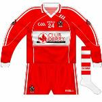 2012: In the interregnum between Ladbrokes and Specialist Joinery Group, the Derry supporters' club sponsored the set of jerseys used in the Dr McKenna Cup.
