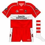 2006: The shirt used as the county's first choice in 2004 and '05 was retained as the change option, though with the new shorts and socks. Worn against Tyrone and Kildare in the championship.