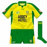 2003: Used in qualifier v Sligo in '03, different font on sponsors while GAA logo and crest were lower.