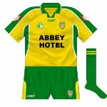 2003: Another variation for the All-Ireland semi-final against Armagh, different collar and a 'golder' shade.
