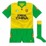 1995: New GAA logo added, socks returned to green with gold tops.