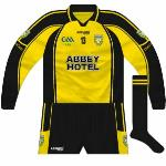 2009: Another league meeting with Kerry meant another 'Ulster' kit, this time matched with black shorts and socks.
