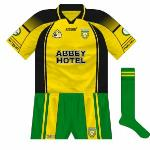 2007: A clash with Leitrim in the 2007 All-Ireland qualifiers necessitated a change on both sides. Donegal wore the Ulster colours, though kept their usual shorts and socks.