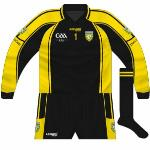 2009: Used when Donegal wore the Ulster colours against Kerry in the league, no sponsor's logo.