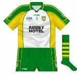 2009: White jersey used when Donegal had to change against Antrim.