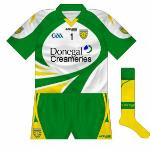 2010-11: White was promoted to first choice for Donegal goalkeepers when another new jersey was launched in 2010, with this being the same as the change jerseys.