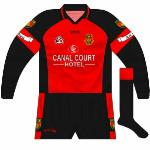 2005: The long-sleeved jerseys couldn't even stay consistent - for the championship game against Tyrone the red lines on the cuffs disappeared.