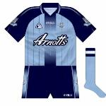 2004-06: The new Dublin kit combined the old with the new. Modern gradient effects mixed with pinstripes which called to mind the classic jerseys of the 1980s, creating a unique look.