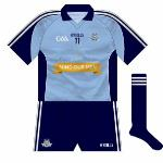 2013: For their championship openers against Westmeath (football) and Wexford (hurling), Dublin promoted the suicide and self-harm crisis centre Pieta House on their jerseys.