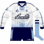 2005-06: Long-sleeved version of white shirt, which began to be favoured over navy.