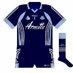 2008: With white the first-choice goalkeeper colour for the 2007-08 kit, the only action the navy shirt saw in 2008 was for the heavy defeat to Tyrone in the All-Ireland quarter-final.