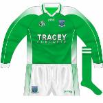 2005-06: Long-sleeved edition, with the gradient again different while the green stripe on the sleeve was fatter.
