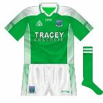 2006: Clearly Gaelic Gear had not kept a master copy of the Fermanagh jersey as it underwent more changes, the county name now on the sleeves too.