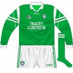 1997-98: Long-sleeved 'Tara' jerseys, interestingly used in the championship against Cavan in 1998.