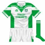 2003: Another meeting with Meath - this time in the championship - meant another change. Like the 'home' shirt but with added green on the side panels.