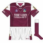 2002-04: Replacing a top worn for two All-Ireland wins, this new jersey had a lot to live up to. Utilising two different shades of maroon was probably not the way to go.