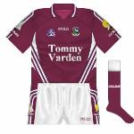 2007: Introduced in 2007, the new jersey featured a different version of the sponsor than had been seen up until then. Nothing too spectacular, it featured elements of various O'Neills stock designs.