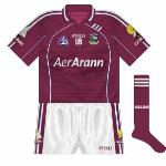 2008: Tommy Varden's long association with Galway football came to an end in 2008, replaced by Aer Arann. At the announcement of the new deal, Aer Arann CEO Pádraig Ó Céidigh posed with a different Galway jersey which was never worn.